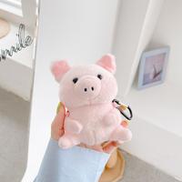 もふもふ猪デザインairpodsケース ピンク イノシシエアーポッズケース かわいい ガールズむけA2