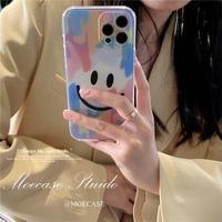 笑顔  iphone13mini/13proケース ぼかし染め iphone11/12promax携帯カバー  可愛い 頑丈 M1157