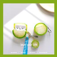 ライム  airpodsproケース 柑橘  airpodsカバー   可愛い果物デザイン 面白い 夏におすすめ M692