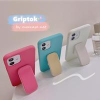 グリップトーク付 iphone12/11promaxケース 多機能スマホグリップ iphoneSE2/xsmaxカバー 頑丈 シンプル風  便利M682