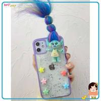 アイフォン11/SE2/12Proカバー trollsトロールズ スマホケース 髪が多い iphone8plus携帯カバー 髪型変えるM200