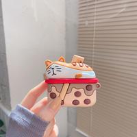 タピオカ猫 Airpodsproカバー 立体感cat airpodsケース  超キュート可愛いM227