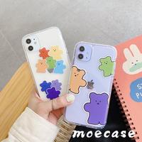 可愛いクマさんiphone11ケース クリアiphonexsmaxケース 萌え持ちやすい携帯カバー[M00055]