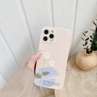 Art flowers iphone11ro/SE2ケース  抽象画風 アイフォン12/XRカバー  可愛いシンプル風モランディカラーM259