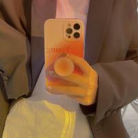 おしゃれクラーデションカラー iphone11/12proケース  スタンドポップソケット付アイフォンSE2/8ケース  落下防止  綺麗M398