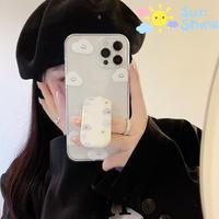 笑顔の曇柄の iphone13pro/12ケース  スタンド付 iphone11/SE2カバー  可愛い 便利 M985