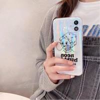 バブルガム ガールズ アイフォン12/11ケース  キラキラ光る iphoneSE2/XS/SE2カバー おしゃれクリアケース  超人気 M468
