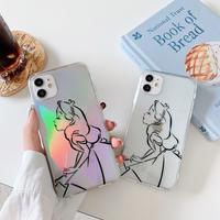 Aliceアリス iphone12miniケース ツヤ感iphone1/12proカバー クリアケース ガールズ可愛いiphoneSE2ケース  芸能人愛用M77