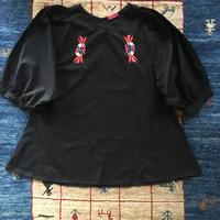 刺繍ブラウス(kuro)