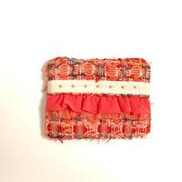 ティッシュケース(England tweed ・offwhite ribbon)