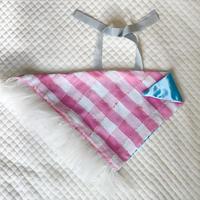 カゴカバー Sサイズ(England tweed・ pink check)