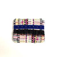 ティッシュケース(France tweed ・blue ribbon)