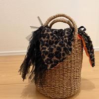 カゴバッグ Sサイズ(Japan tweed・Leopard)