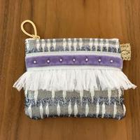 ポーチミニ(France tweed・silver)
