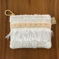 ポーチミニ(England tweed・white)