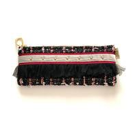 ペンケース(Japan   black red tweed・   red ribbon)