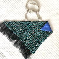カゴカバー Sサイズ(England tweed・   black blue green)