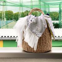 カゴバッグ Mサイズ(France textile・Stripe)
