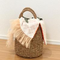 カゴバッグ Sサイズ(Japan tweed・White)