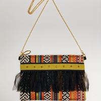クラッチバッグ(France textile・ethnic)