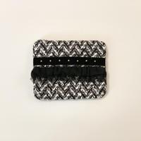ティッシュケース(Italy tweed ・   black ribbon)
