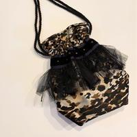 巾着バッグ Sサイズ(Italy textile・browncamouflage)