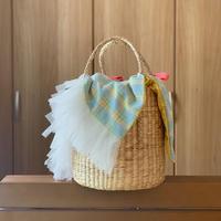 カゴバッグ Mサイズ(England tweed・pastel check )