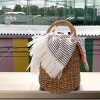 カゴバッグ Sサイズ(France textile・Stripe)