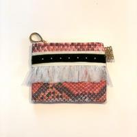 ポーチミニ(Italy textile ・pink python)