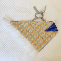 カゴカバー Mサイズ(England tweed・orange yellow check)