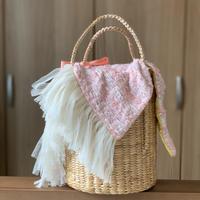 カゴバッグ Sサイズ(japan tweed ・ pink tweed)