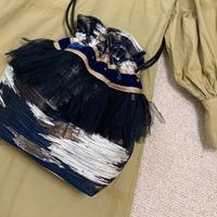 巾着バッグ Mサイズ(Italy textile)