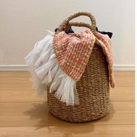 カゴバッグ Sサイズ(England tweed・orange)