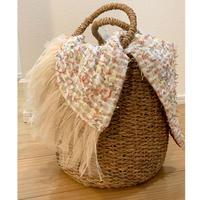 カゴバッグ Mサイズ(England tweed・pastel)