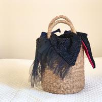 カゴバッグ Sサイズ(England tweed・Black)