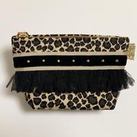 ポーチマチ付き(Japan  cotton・leopard)