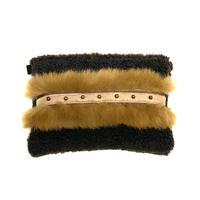 ショルダーポーチ L size(Japan  darkbrown fur・camelfur ・brown beige ribbon )