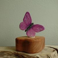 Butterfly Purple Ornament /Margo リングオーナメント蝶パープル