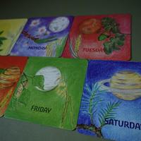 曜日カード(英語)