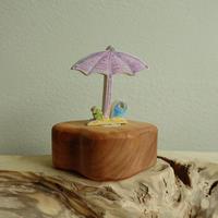 Parasol with bucket Purple Ornament /Margo リングオーナメント パラソル パープル
