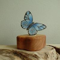 Butterfly Blue Ornament /Margo リングオーナメント蝶ブルー