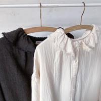 collar frill cotton onepiece