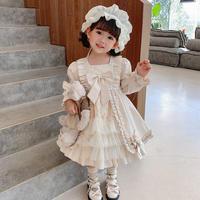 【110sizeのみ即納】 王道の可愛さ…♡ダマスク柄のロリータプリンセスドレス♡