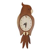 オウム時計(ブラウン)
