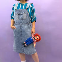 🌈Chemical wash Denim Jumper Skirt🌈