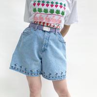 🌈Denim Flower design Short Pants🌈