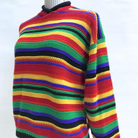 🌈COLORFUL BORDER KNIT SWEATER🌈