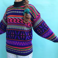 🌈COLORFUL CRAZY  KNIT SWEATER🌈