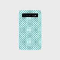 名入れオプション可!モバイルバッテリー・ティファニーブルー色モロッカン柄♡
