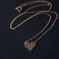 Round Heart Necklace/ ラウンドタイル